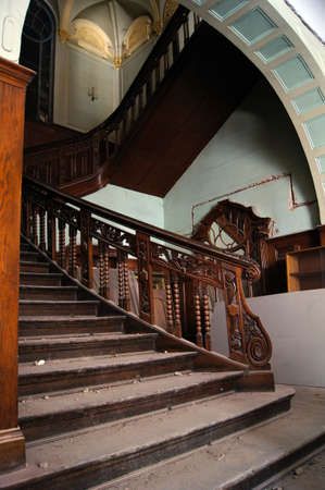 rehabilitated people: Old staircase in Tbilisi houses of 18-19 centuries, Republic of Georgia