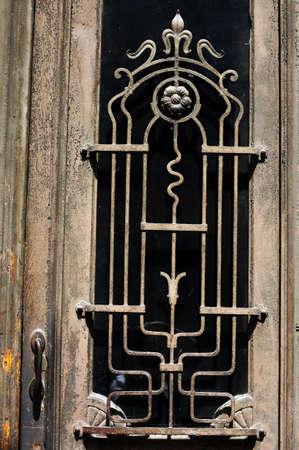 rehabilitated people: Art-Nouveau facade in Tbilisi Old town, Republic of Georgia Stock Photo