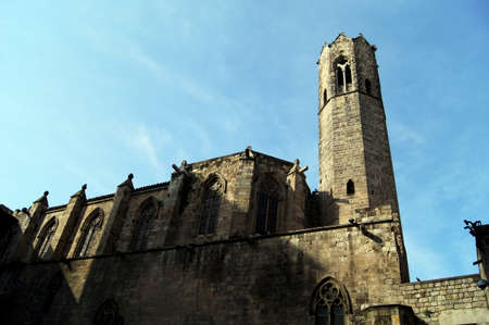 quater: Main church of Gothic quater in Barcelona, Spain
