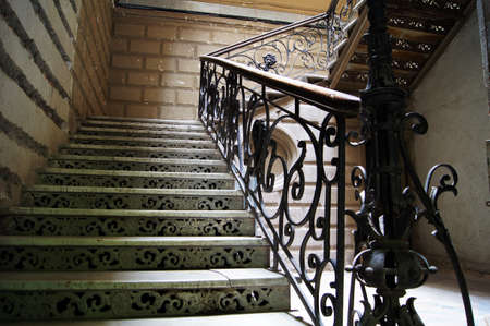 rehabilitated: Old staircase in Tbilisi houses of 18-19 centuries, Republic of Georgia