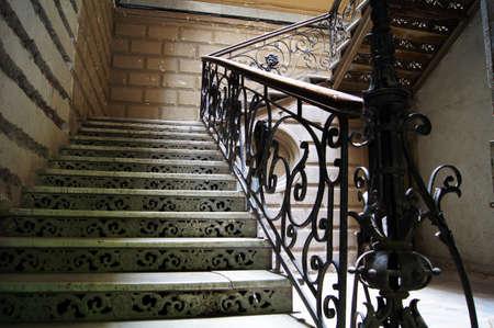 tbilisi: Vecchia scala in case di 18-19 secoli Tbilisi, Georgia