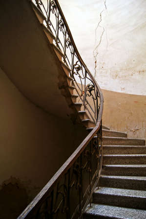 Old staircase in Tbilisi houses of 18-19 centuries, Republic of Georgia Stock Photo - 15861875