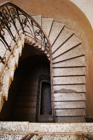 Old staircase in Tbilisi houses of 18-19 centuries, Republic of Georgia photo
