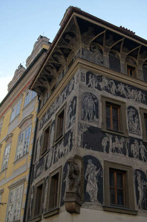 Old Prague: traditional architecture Stock Photo - 15902621