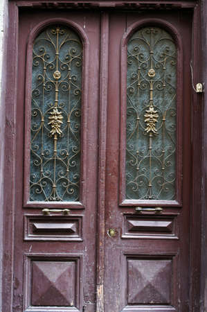 Art-Nouveau old door in Tbilisi Old town, Republic of Georgia photo
