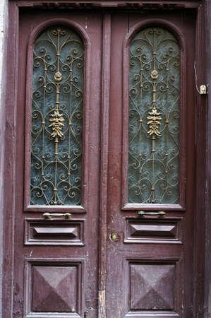Art-Nouveau old door in Tbilisi Old town, Republic of Georgia Stock Photo - 15909228