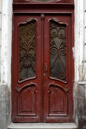 property berlin: Art-Nouveau old door in Tbilisi Old town, Republic of Georgia
