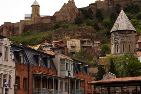 crist: Traditional wooden carving balconies of Old Town of Tbilisi, Republic of Georgia