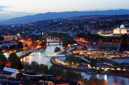 Night view to Old town of Tbilisi, Georgia (country)