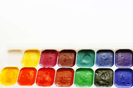 dirty used different watercolor background Stock Photo - 16684702