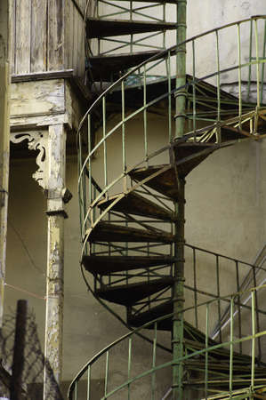 Old spiral staircase in Old Tbilisi Stock Photo - 18152073