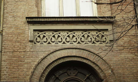 Art-Nouveau facade decoration in forged iron in Tbilisi Old town Stock Photo - 18152054