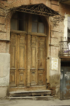 rehabilitated people: Old door in the most ancient part of Tbilisi