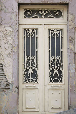 Art-Nouveau door decoration in forged iron in Tbilisi Old town photo