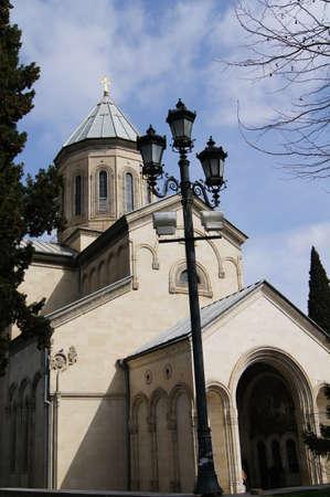 rustaveli: Famous Kashveti church on Rustaveli ave  in Tbilisi, Georgia