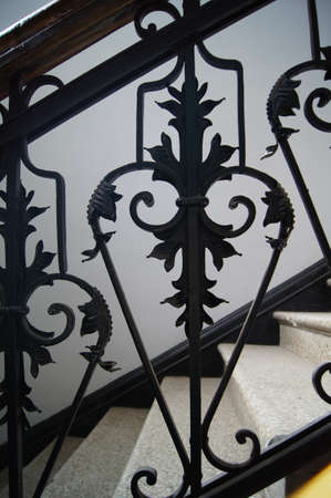 smithery: Art-Nouveau facade decoration in forged iron in Tbilisi Old town