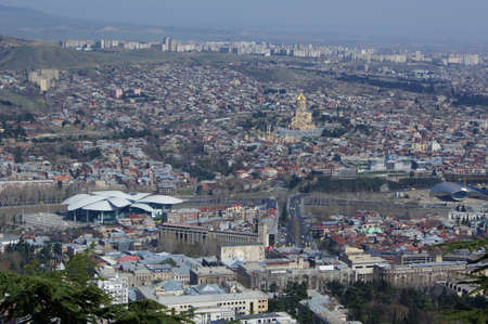 crist: View to Old Tbilisi from the Mtatsminda (Saint) hill