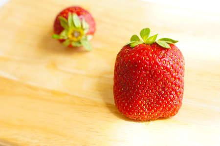 produce energy: fresh and sweet  strawberry fruits Stock Photo