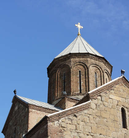 crist: Dome of ancient church in Old Tbilisi Stock Photo