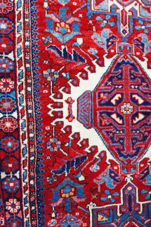 coverlet: Old carpets in the street market in Tbilisi Old town, Republic of Georgia