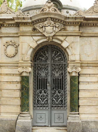 smithery: Art-Nouveau forged iron door in Tbilisi Old town