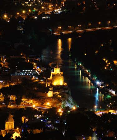 crist: Night overview: Tbilisi city from the Saint mount (Mtatsminda)