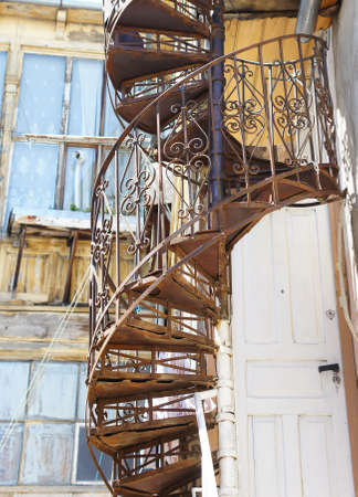 Old spiral staircase in Old Tbilisi photo