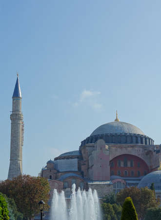 byzantium: Exterior of the Hagia Sophia in Sultanahmet, Istanbul, on a sunny day