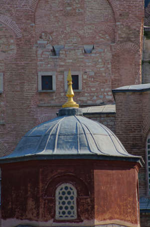constantinople ancient: Exterior of the Hagia Sophia in Sultanahmet, Istanbul, on a sunny day