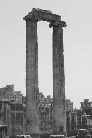 view of Temple of Apollo in antique city of Didyma, Turkey photo