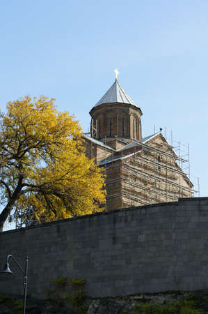 crist: Metekhi cathedral in old Tbilisi, Georgia