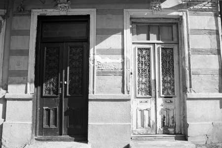 rehabilitated people: Art-Nouveau door decoration in forged iron in Tbilisi Old town