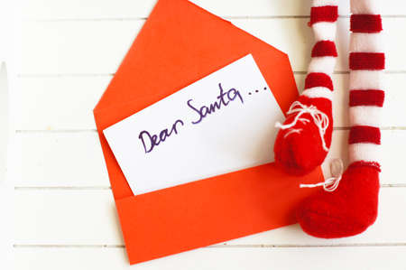 Letter to Santa with envelop and Christmas decoration