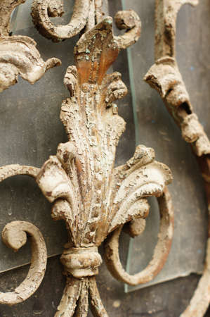 rehabilitated people: Details of Art-Nouveau decor in forged iron