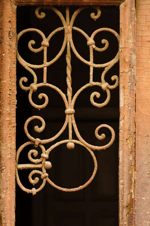 rehabilitated: Details of Art-Nouveau decor in forged iron