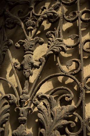 rehabilitated people: Art-Nouveau facade in Tbilisi Old town, restored area