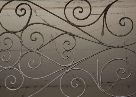 rehabilitated people: Details of Art-Nouveau forged iron in the building decor in Tbilisi Old town