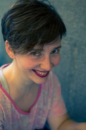 brunnet: Retrato de mujer hermosa Brunnet Foto de archivo