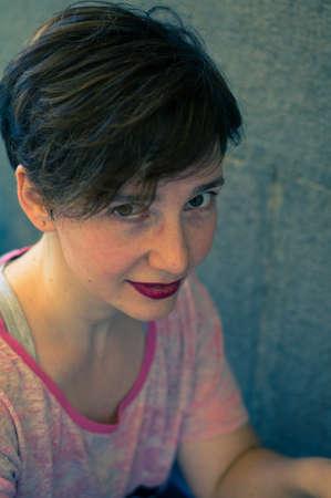 brunnet: Portrait of beautiful brunnet woman