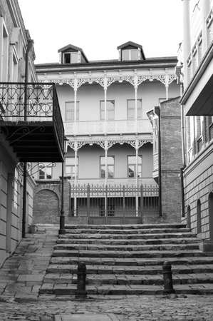 crist: View of traditional narrow streets of Old Tbilisi, Republic of Georgia