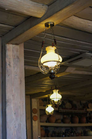 old styled: Old styled lamp in country interior