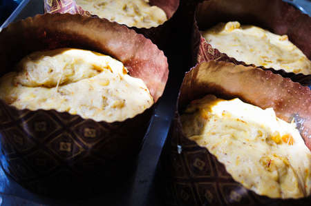 paskha: Easter cakes are preparing in a kitchen
