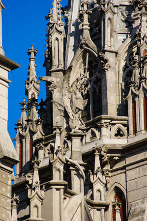 cupolas: Detail of the catholic church of St. Nicholas in Kiev also known as organ hall