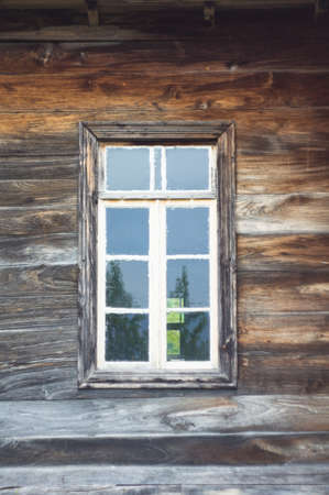 ethnographical: view from window in old house rural view