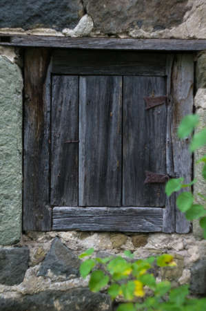 ethnographical: old wooden door in antique house, Tbilisi, Georgia