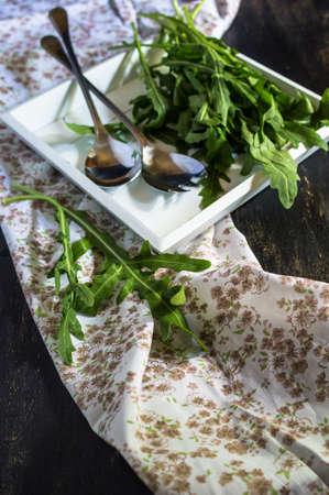 ruccola: Fresh organic ruccola herb