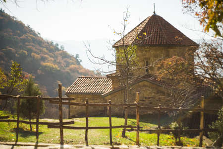 Famous Shiomgvime monastery close to Mtskheta , ancient capital of Georgia Stok Fotoğraf