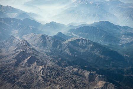Aerial landscape of Taurus mountain range in Minor Asia area in Turkey