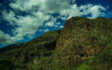 Summer landscape in Georgian Caucasus mountain range
