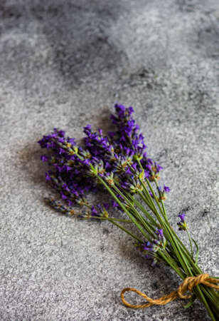 Fresh lavender flowers on rustic background with copy space Reklamní fotografie